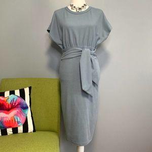 Fashion Nova Blue Tied To The Scene Midi Dress
